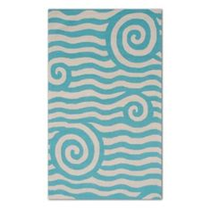Yala Outdoor Rug from Grandin Road for the Florida house