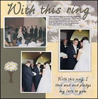 really good tips on how to layout a wedding scrapbook