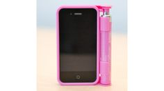 an iPhone case with a pepper spray container attached, would you use it?