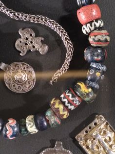 "Viking beads and pendants, from ""We call them Vikings"" exhibition (Seaplane harbour museum, Tallinn, Nov 2016)"