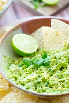 You'll never go back to storebought again after one taste of this flavor-packed guacamole. Whips up in less than 5 minutes and the flavors are outta this world and perfect for your Cinco de Mayo bash! @WholeHeavenly