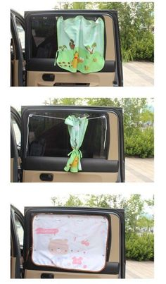 21 Easy Family Road Trip Hacks That Will Make Travelling More Fun Keep the sun out of your baby's face with this clever window covering. Suction cups and string serve as a curtain rod. Punch holes in a blanket and run the string through. Road Trip With Kids, Family Road Trips, Travel With Kids, Road Trip Toddlers, Toddler Travel, Baby Life Hacks, Diy Bebe, Baby Dinosaurs, Road Trip Hacks