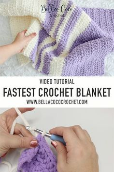 Free Baby Blanket Patterns, Afghan Crochet Patterns, Baby Blanket Crochet, Easy Baby Blanket, Beginner Crochet Blankets, Knitting Baby Blankets, Chunky Crochet Blanket Pattern Free, Crocheted Baby Blankets, Tunisian Crochet Blanket