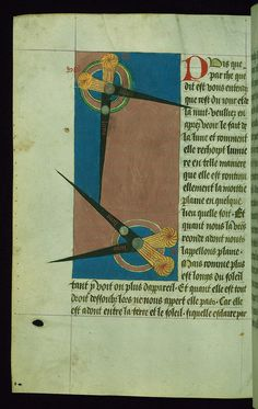 """This manuscript is one of the three known fifteenth-century copies of a rare vernacular cosmography composed in verse under the title """"Image du Monde"""" (The Mirror of the World) in Lorraine dialect in 1245-46. The importance of W.199 is both textual and pictorial. Illuminated by followers of Willem Vrelant, active in Bruges 1454-1481, the manuscript reveals affinity of format and content with a 1464 copy of the Mirror of the World made in Bruges (London, British Library, Royal 19 A.IX)."""