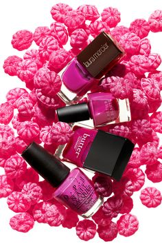 Berry Nail polish for InStyle.  Photography by Greg Broom