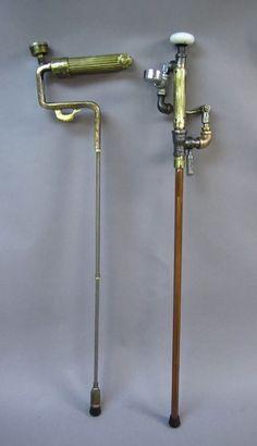 Steampunk walking sticks