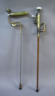 Steampunk walking sticks