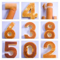 crear un pastel en forma de número,