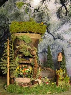 Fairy House Fairy Boot Gardener Miniature by WoodlandFairyVillage, $93.00