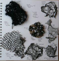 A Level Textiles: Beautiful Sketchbook Pages – Art World 20 A Level Textiles Sketchbook, Fashion Design Sketchbook, Fashion Design Portfolio, Sketchbook Pages, Fashion Sketches, Sketchbook Ideas, Textile Texture, Textile Art, Creative Textiles