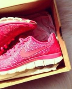 Sparkley nikes? The only time I would actually want to buy a pair of tennis shoes.. Haha I need some badly too..