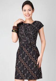 Batik Harni Dress Batik Tulis Black