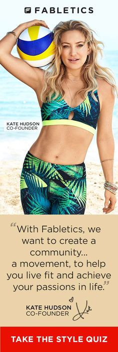 FABLETICS EXCLUSIVE VIP OFFER - GET YOUR FIRST OUTFIT FOR $15! Limited Time Only. Discover Fabletics by Kate Hudson Workout Outfits for 2016 that are Curated for Your Lifestyle by taking our Lifestyle Quiz to take advantage of this offer!