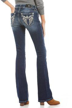 Miss Me Wing Flap-Pocket Bootcut Jeans $99.00 http://shopstyle.it/l/ktOS