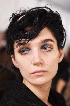 Diane von Furstenberg - Blue Eye Makeup at SS16 - The Cut