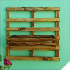 Kit escada dupla 50 x 50 cm, com 1 cachepot (37 x 14 x 10 cm), com verniz.