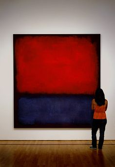 Rothko - looks like the one our friend Jeff Mallare painted for us at home.  Love it!