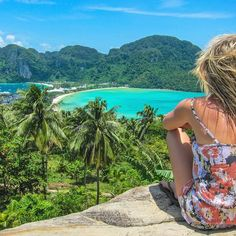 """For the next few days, I'll be partnering with @WyndhamRewards to share some of the most """"magical moments"""" in my travels! Starting Tuesday, @WyndhamRewards wants to see your Magical travel moments. •••••••••••••••••••••••••••••••••••••••••••••••••••••••••• I can't believe it's been almost 4 years ago since I sat here looking out over Ko Phi Phi in Thailand. This was my first ever solo trip. I remember sitting anxiously in the airport in Melbourne as I awaited my flight to Thailand.  A…"""