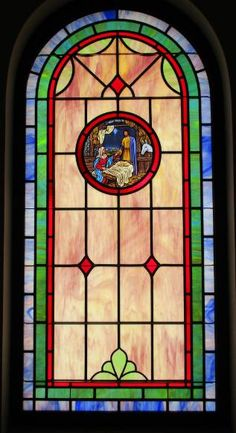 Stained Glass Windows at Kyuka Missionary Baptist Church in Attalla, AL