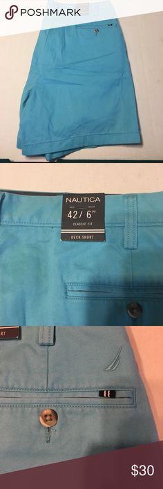 Nautica Shorts 42W Nautica Shorts 42W length 6in Classic Fit Deck Shorts Nautica Shorts Flat Front