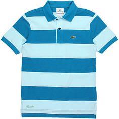 Lacoste Kids - Short Sleeve Bold Stripe Pique Polo (Toddler/Little Kids/Big Kids)