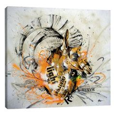 "JaxsonRea ""Reel Up"" by Taka Sudo Graphic Art on Wrapped Canvas Size: 48"" H x 48"" W x 1.5"" D"