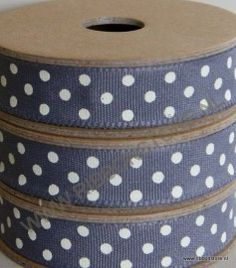 3 metre roll of ribbon Dotty ribbons Charcoal, Dots, Ribbons, Embroidery, Cream, Presents, Frases, Polka Dot, Needlepoint