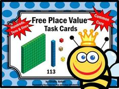 Free Place Value Hundreds Tens Ones Math Task Cards Game