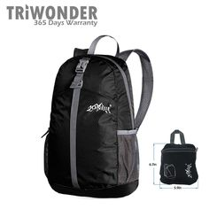 d9fe92238ea1 Amazon.com   Triwonder 20L Durable Packable Lightweight Backpack Hiking  Daypack for Camping Outdoor Travel (Black)   Sports   Outdoors