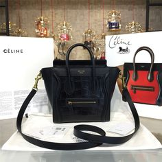 product code # 8572825 100% Genuine Leather Matching Quality of Original Celine Production (imported from Europe) Comes with dust bag, authentication cards, box, shopping bag and pamphlets. Receipts are only included upon request. Counter Quality Replica (True Mirror Image Replica) Dimensions: 19.5cm x 7.5cmx 20cm (Length x Height x Width) Our Guarantee: The handbag you...READ MORE
