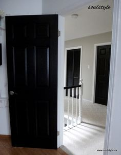 Black Interior Doors with Gray walls for the living room....our MBR ...