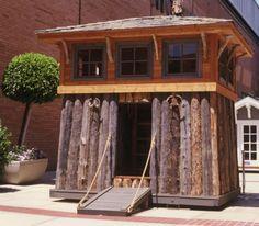 playhouse with a drawbridge