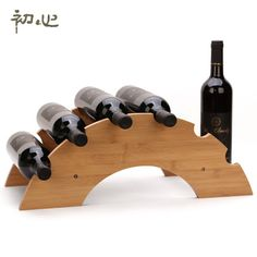 Cheap diy wine racks, Buy Quality wine display shelf directly from China wine rack Suppliers: JUH A Bamboo Wooden Bridge Style DIY Wine Rack European Fashion Personality Red Wine Display Shelf Wine Holder Ornament 81014 Router Woodworking, Easy Woodworking Projects, Fine Woodworking, Wood Projects, Woodworking Techniques, Woodworking Classes, Woodworking Videos, Woodworking Beginner, Woodworking Organization