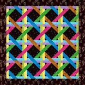 Woven Ribbons Paper Pieced Quilt Block - via @Craftsy