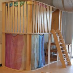 Play Loft by Natural Pod (for schools or homes). Play Spaces, Learning Spaces, Kid Spaces, Play Areas, Classroom Design, Classroom Decor, Natural Playground, Indoor Playground, Playground Ideas