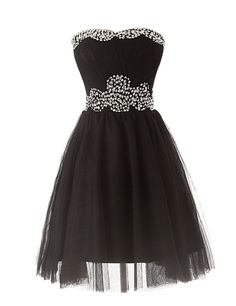 Dressystar Short Party Homecoming Dresses Beading Neckline and Wais