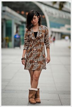 Triple clips on the side and a full leopard print dress complete with furry velvet boots. Kind of looks like a leopardess comes to life. She doesn't speak much when I approached her for a picture. I would think that she was getting into the character #shop #love #obsessed #87thandlex #shoponline #lookbook #igdaily #trends #igfashion #trendy #follow #ootn #trending #igstyle #instastyle #shopping #lookoftheday #sale #tagafriend #apparel