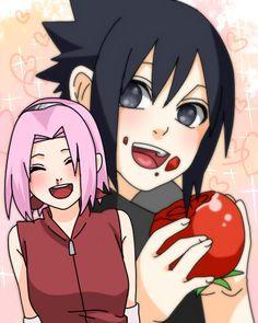 Sasuke eating tomato (his fave)