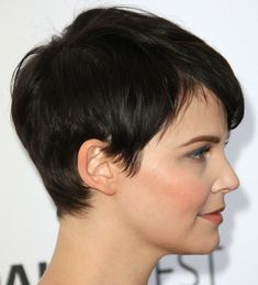 Profile view of a short pixie haircut that I love.