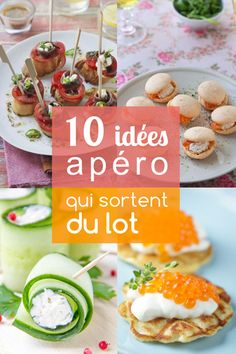 10 ideas that change for an aperitif - - Healthy Finger Foods, Healthy Appetizers, Tapas, Snack Recipes, Cooking Recipes, Healthy Recipes, Asian Chicken Salads, Appetisers, Creative Food