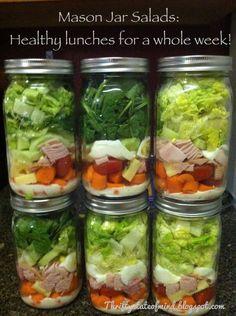 How to: Mason Jar Salads.
