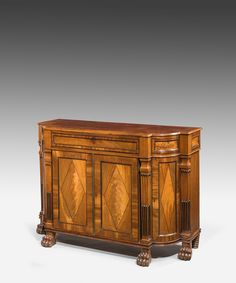 A handsome Regency mahogany cabinet perfect for a hallway.