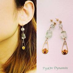 Green amethyst and rutilated quartz made a magic. www.PigeonDynamite.etsy.com #pigeondynamite. 珍しいグリーンアメジストとルチルクォーツのピアス。 #etsy#jewelry#etsyjewelry #handmade#vibtage#upcycled#earrings#stone#quartz#ピアス#クリーマ#ハンドメイドジュエリー#ジュエリー#アクセサリー#fallwinter#trending#御褒美ジュエリー #ピアス #クリーマ #stone #quartz #jewelry #ハンドメイドジュエリー #fallwinter #handmade #vibtage #etsyjewelry #pigeondynamite #trending #ジュエリー #earrings #御褒美ジュエリー #etsy #アクセサリー #upcycled