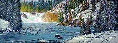 Donald Neff - Lewis Falls, 8x16, acrylic on board, $450