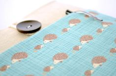 "11.6"" MacBook Air Case Sleeve, Asus Touch Screen, Microsoft Surface Cover Customized Padded with Pocket - Hedgehogs"