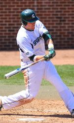 Michigan State Spartan Blaise Salter led MSU in batting (.343), doubles (14) and hits (62) in 2013.