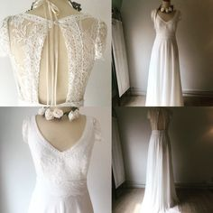 This gorgeous design is the Lauren dress. Made of pure silk an French Calais Lace. Relaxed Wedding Dress, Bohemian Style Wedding Dresses, French Lace, Pure Silk, Wedding Designs, Pure Products, Elegant, Brides, Popular