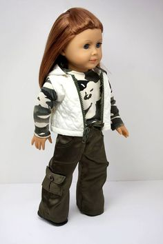 American Girl Doll ClothesQuilted Hooded Vest by sewurbandesigns, $34.00