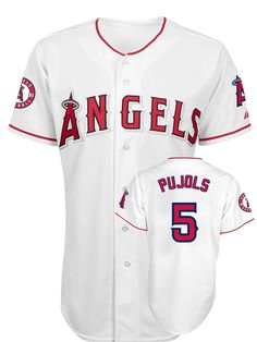 MLB  5# Puljols Angels WHITE stitched jersey. $44.20 for one pc with shipping.The more you buy, the cheaper the jersey is .Anyone interested can feel free to contact me .Email : tonfljerseysshop@hotmail.com or cherry@ec8j.com