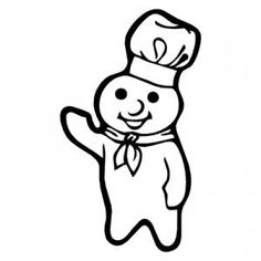 pillsbury doughboy pictures pillsbury doughboy waving decal dough boy car sticker